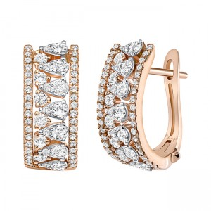 Uneek Diamond Earrings, in 14K Rose Gold