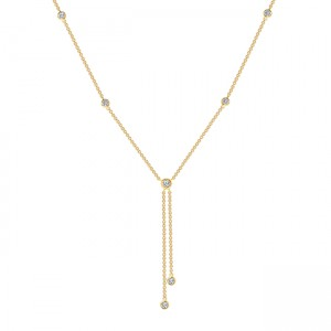 Uneek Diamond Necklace, in 18K Yellow Gold