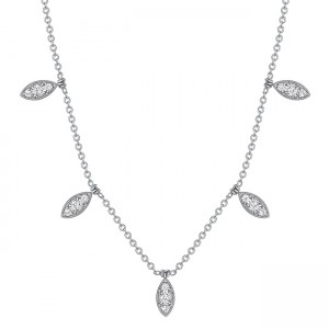 Uneek Diamond Necklace, in 18K White Gold