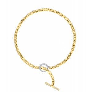 Uneek Diamond Chain Necklace, in 18K White/Yellow Gold