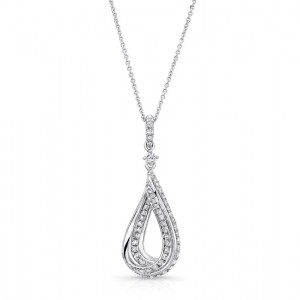 Uneek 14K White Gold Diamond Pendant LVNW7047