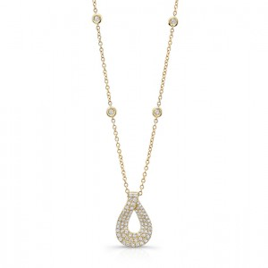 Uneek 14K Yellow Gold Diamond Pendant LVNW924Y