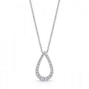 Uneek 14K White Gold Diamond Pendant LVNW9715