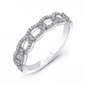 "Uneek ""La Mirada"" Stackable Diamond Band (white gold version)"