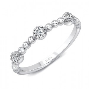 "Uneek ""Las Palmas II"" Stackable Diamond Band (White Gold version)"