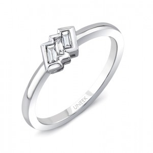 "Uneek LVBNA581W ""Gardner"" Stackable Diamond Ring"