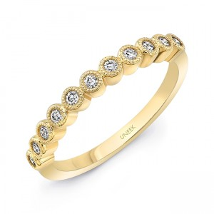 "Uneek ""Gramercy"" Stackable Diamond Band (Yellow Gold version)"
