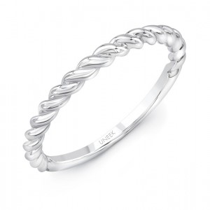 "Uneek ""Doheny"" Stackable Band (White Gold version)"