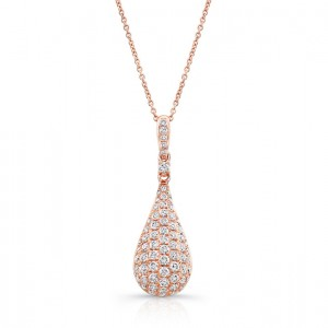 Uneek 14K Rose Gold Diamond Pendant LVNW697R