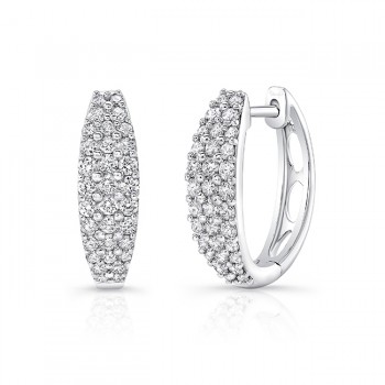 Uneek Diamond Earrings, in 14K White Gold