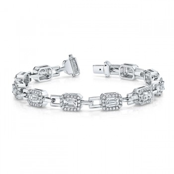 Uneek Diamond Bracelet, in 18K White Gold