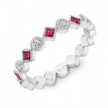 Uneek Ruby Fashion Ring, in 14K White Gold