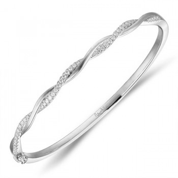 Uneek Bangle, in 18K White Gold