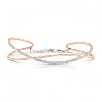 Uneek Diamond Bracelet, in 14K White/Rose Gold