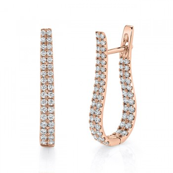 Uneek Diamond Earring, in 14K White Gold