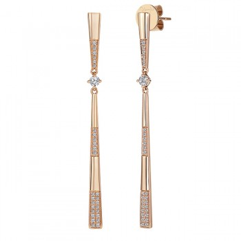 Uneek Diamond Earrings, in 18K Rose Gold