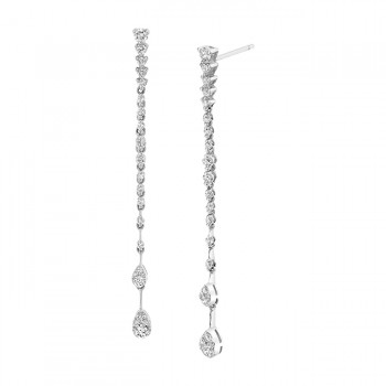 Uneek Diamond Earring, in 18K White Gold