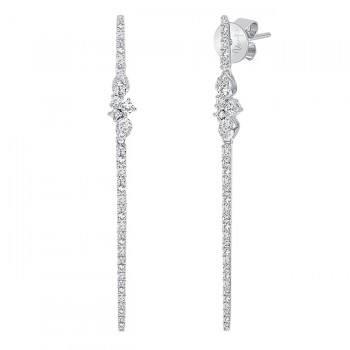 Uneek Diamond Earrings, in 18K White Gold