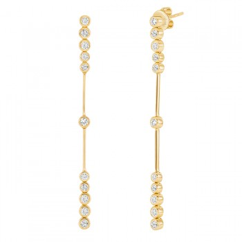 Uneek Diamond Earrings, in 18K Yellow Gold