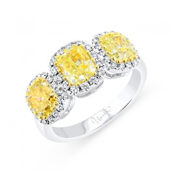 Uneek LVRLG4661 Yellow Diamond Ring