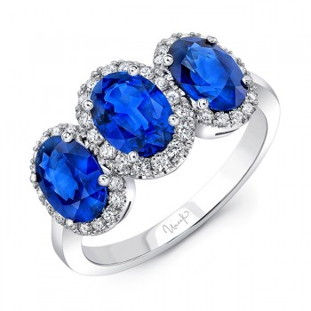 Uneek Three-Sapphire Engagement Ring