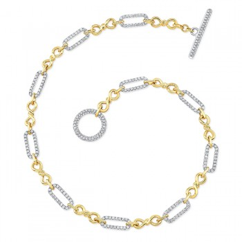 Uneek Diamond Necklace, in 18K White/Yellow Gold