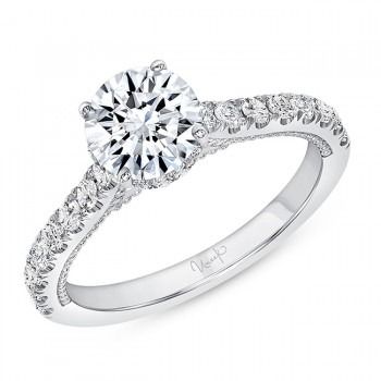 Uneek Engagement Ring, in 14K White Gold