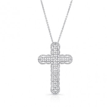 Uneek 14K White Gold Large Openwork Diamond Pendant