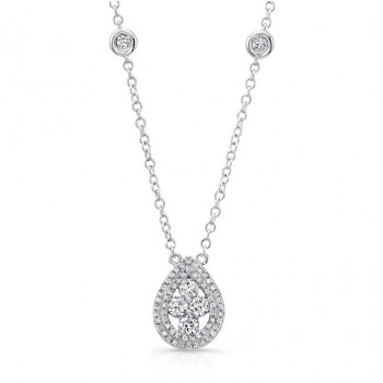Uneek 18K White Gold Diamond Pendant LVNW2186