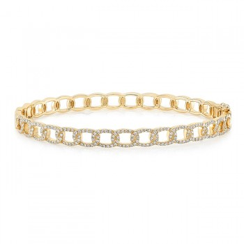 "Uneek ""La Mirada"" Stackable Diamond Bangle, Yellow Gold"