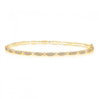 "Uneek ""Rodeo"" Stackable Diamond Bangle, Yellow Gold version"