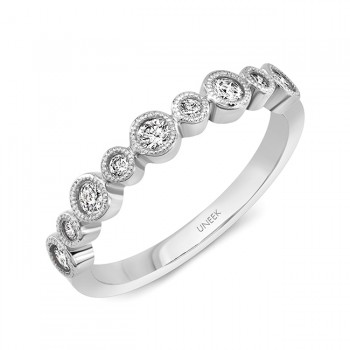 "Uneek ""Sierra Bonita"" Stackable Diamond Band (White Gold version)"