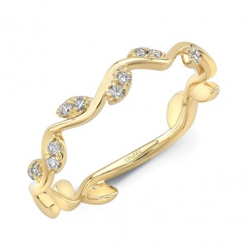 """Uneek """"Formosa"""" Stackable Diamond Band (Yellow Gold version)"""