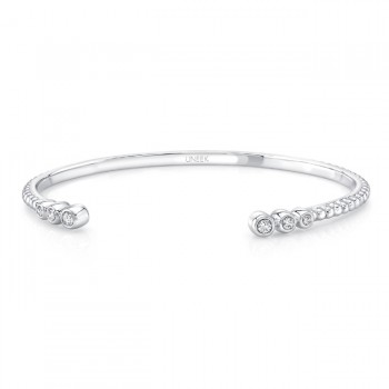 "Uneek ""Roxbury"" Open Diamond Bangle, 14K White Gold"