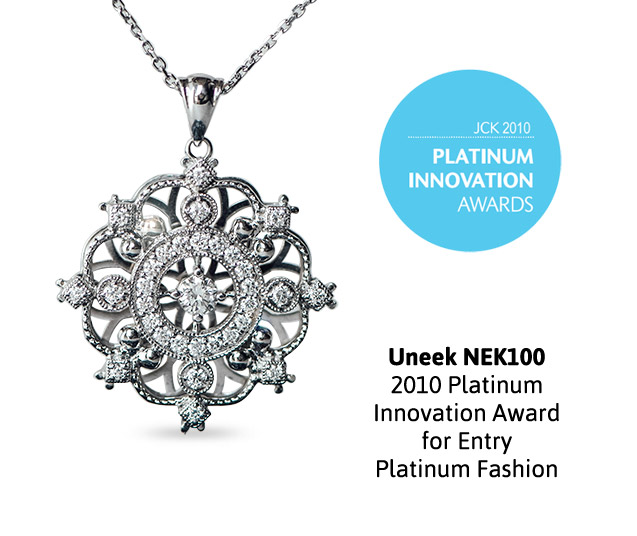 Uneek Snowflake Diamond Pendant, in Platinum NEK100